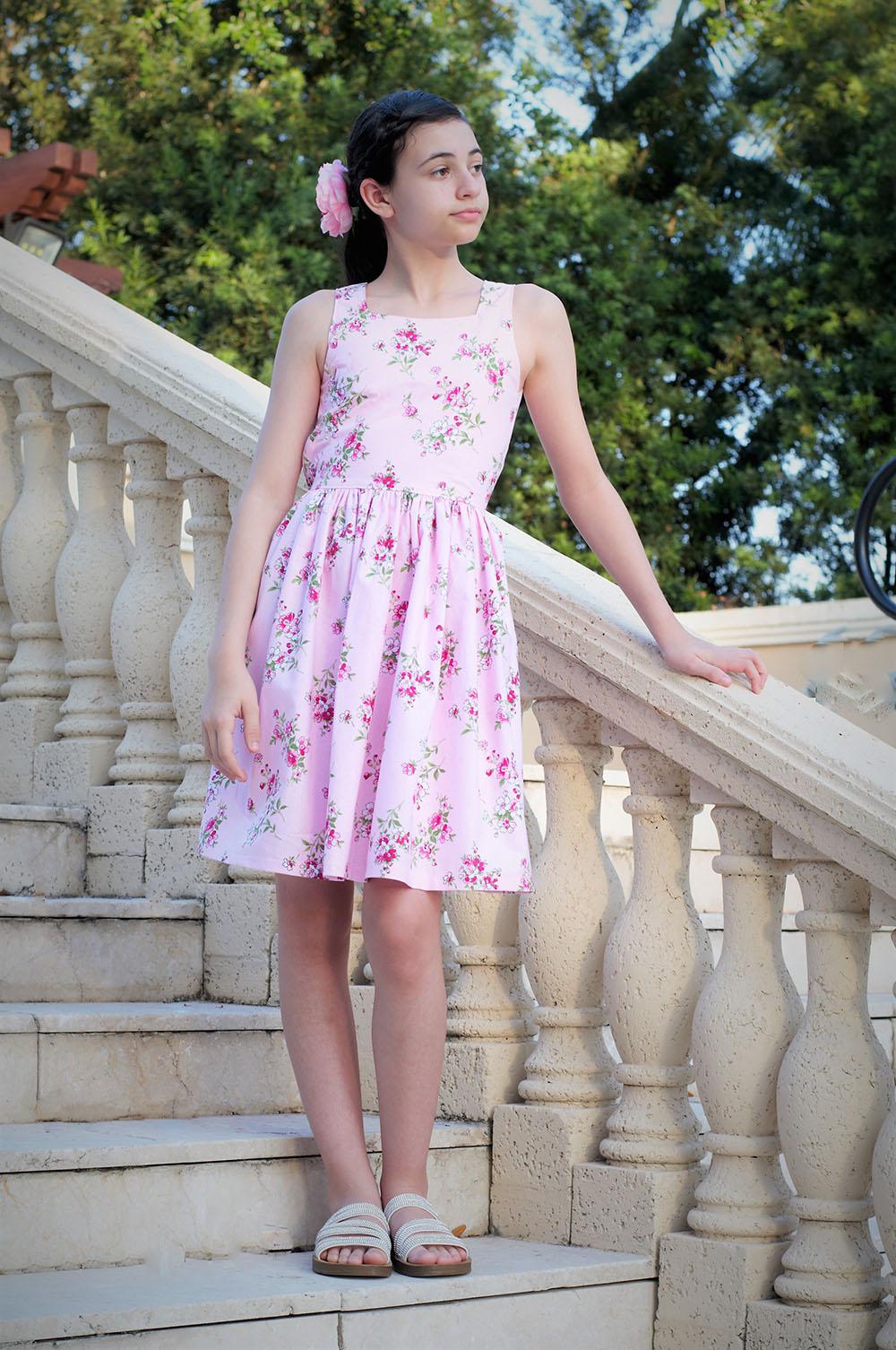 Lluvia's Lovely Dress & Top Sizes NB to 14 Kids PDF Pattern
