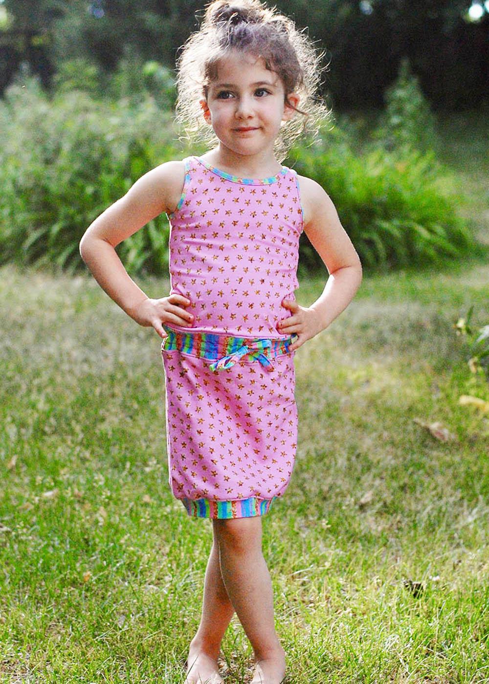 Blondie's Knit Roller Rink Dress Sizes 2T to 14 Kids PDF Pattern