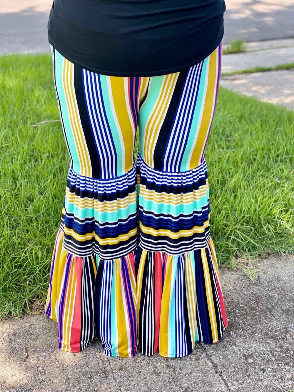 Tulum's Tiered Pants Sizes XXS to 3X Adults PDF Pattern