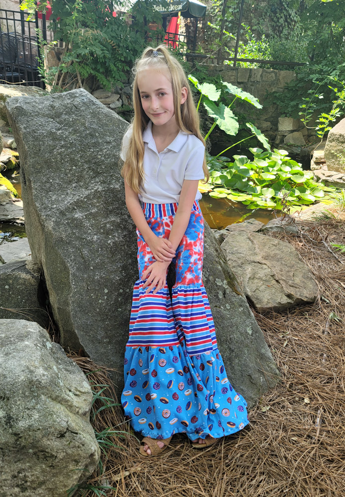 Tulum's Tiered Pants Sizes 2T to 14 Kids and Dolls PDF Pattern