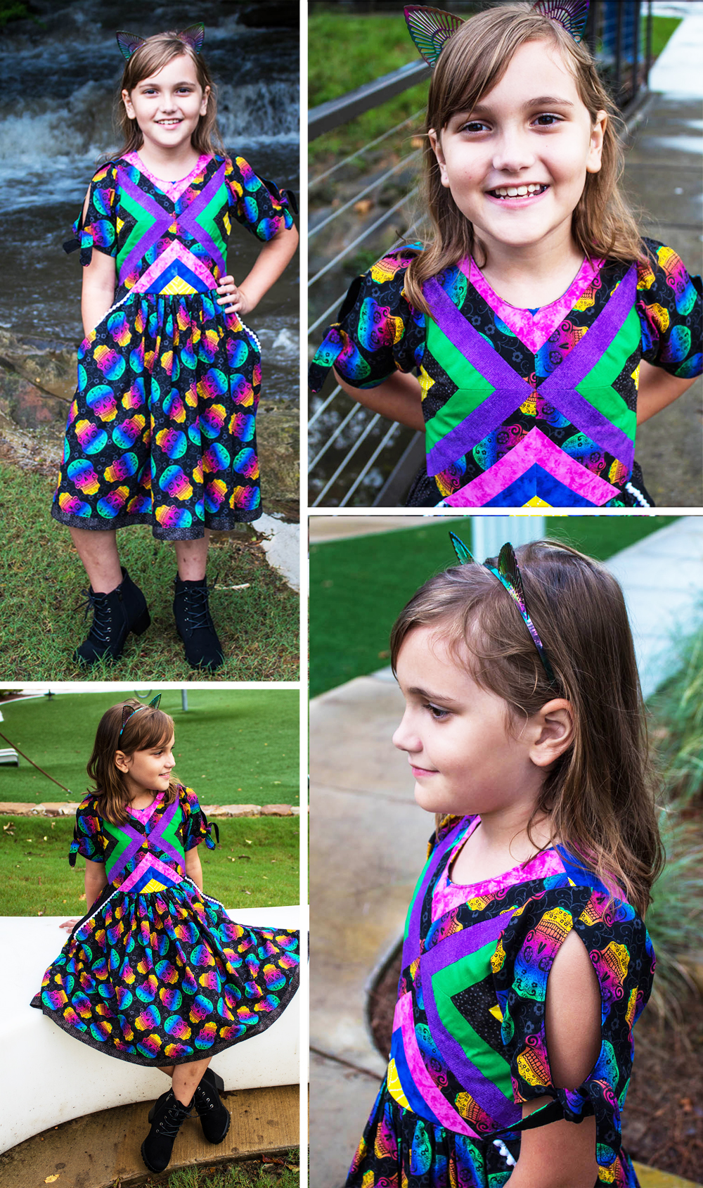 Bea's Quilt Block Dress and Maxi Sizes NB to 14 Kids PDF Pattern