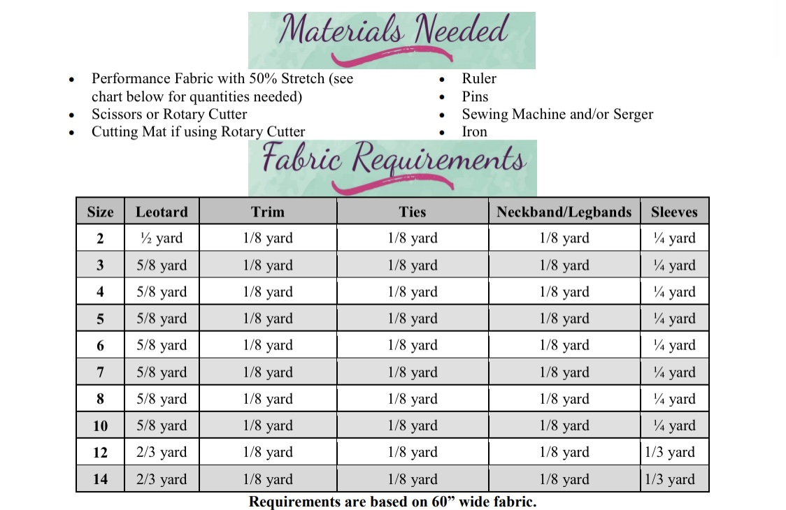 Onika's Open Back Leotard Sizes 2T to 14 Kids PDF Pattern