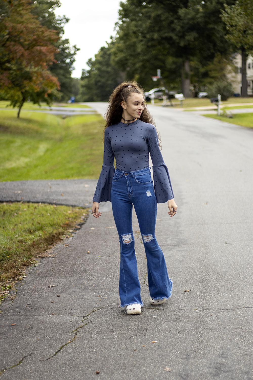 Cicely's Bell Sleeve Bodysuit Sizes XXS to 3X Adults PDF Pattern