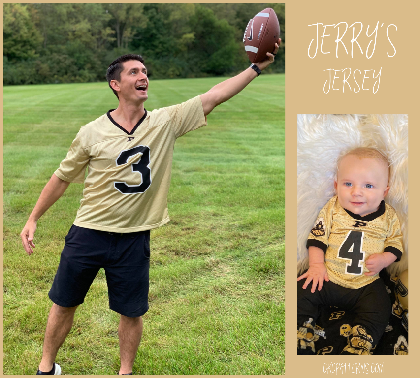 Jerry's Football Jersey Sizes XXS to 4X adult PDF Pattern