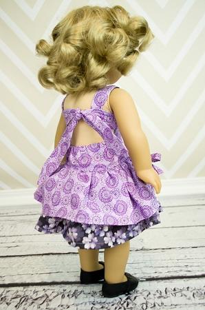 Poppy's Peekaboo Dress Doll Size PDF Pattern