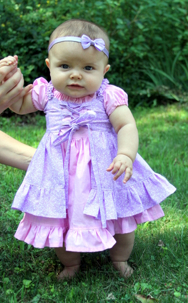 Cassidy's Corset Cover Dress and Top Sizes NB to 15/16 Kids PDF Pattern