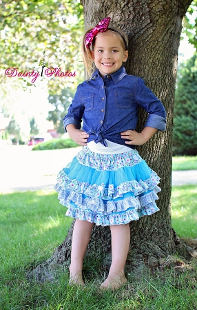 Coco's Fabric Pettiskirt Sizes 6/12m to 15/16 Kids and Dolls PDF Pattern