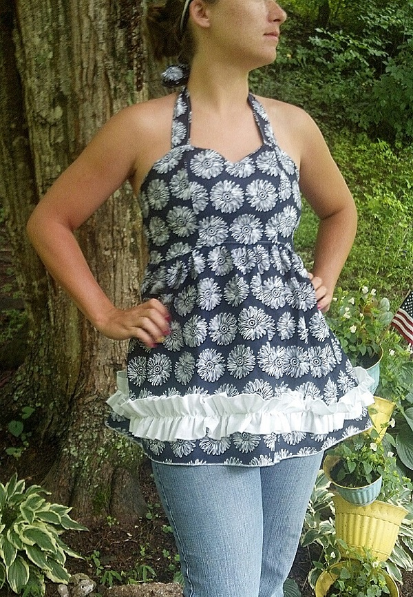 Anna's Sweetheart Halter Top and Dress Sizes XS to XL Adults PDF Pattern