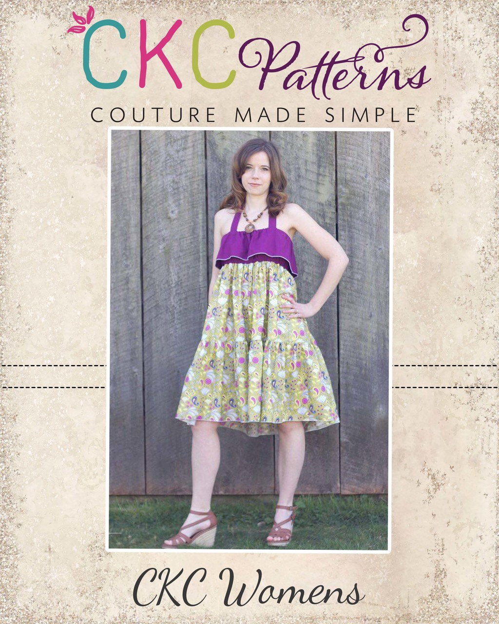 Cora's Tiered Top, Sun Dress and Maxi Dress Sizes XS to XL Adults PDF Pattern