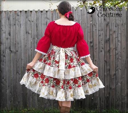 Joy's Lace Twirly Dress Sizes XS to 5X Adults PDF Pattern