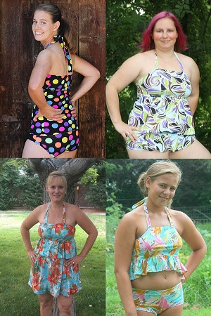 Naomi's Ruffle Bikini Sizes XS to XL Adults PDF Pattern