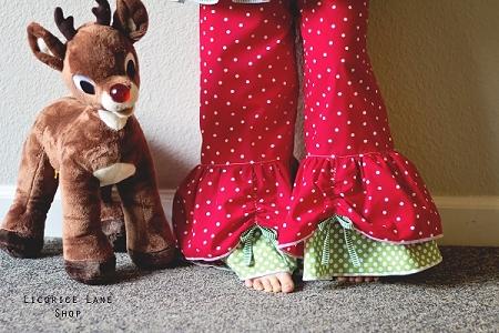 Opal's Peekaboo Ruffle Pants Sizes 0/6m to 8 Kids and Dolls PDF Pattern