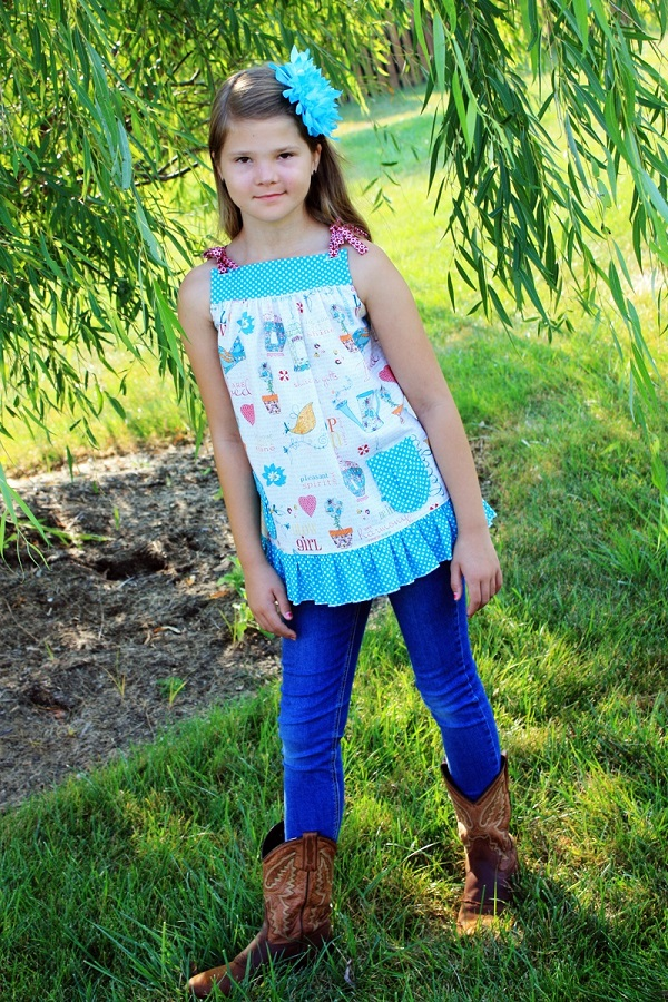 Allegra's All-Purpose Pinafore Top Sizes 6/12m to 15/16 Kids PDF Pattern