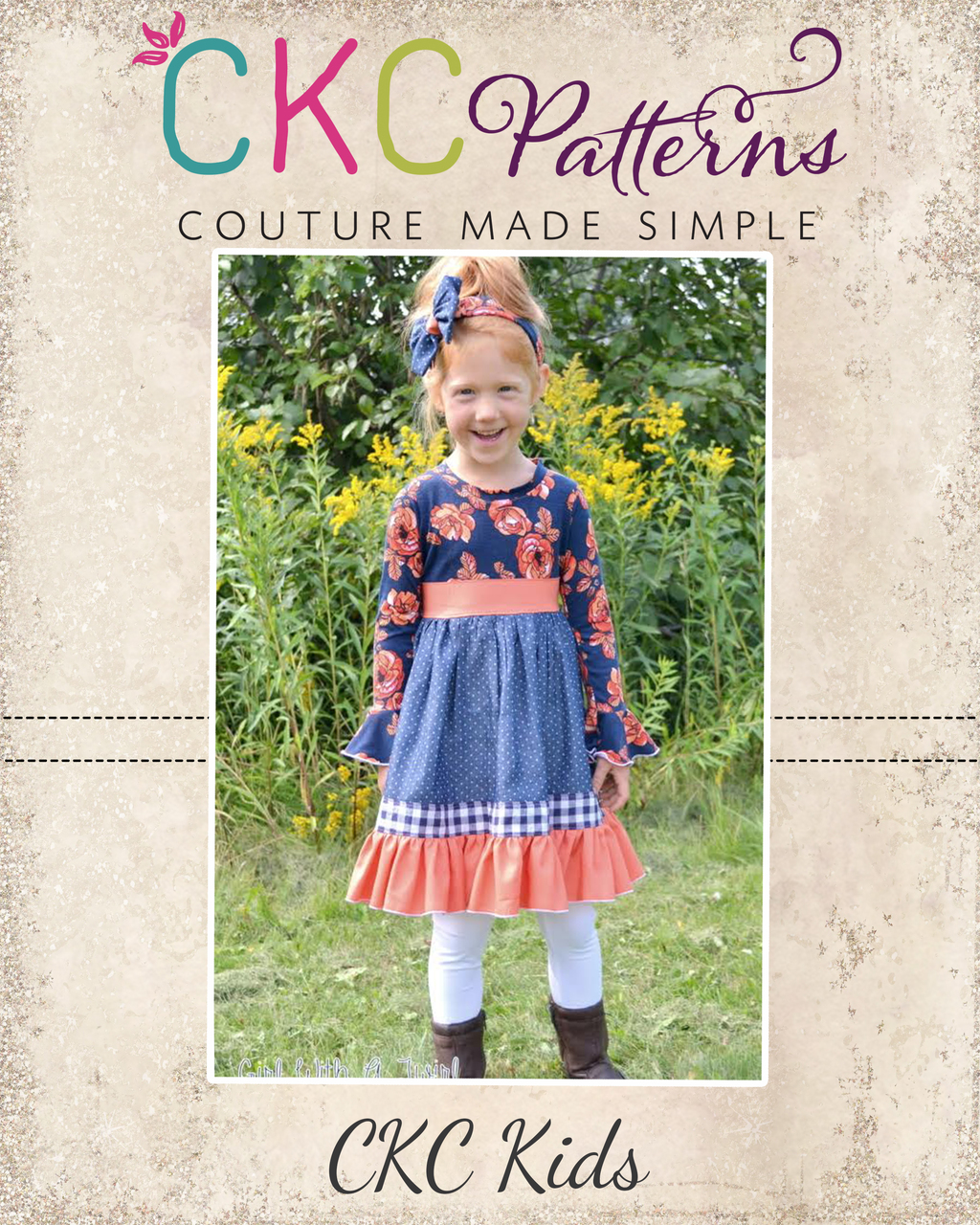 Cosette's Knit and Woven Dress Sizes NB to 15/16 Kids and Dolls PDF Pattern