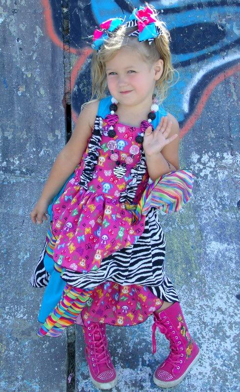 Cuyler's Curly Dress Sizes 6/12m to 8 Kids PDF Pattern