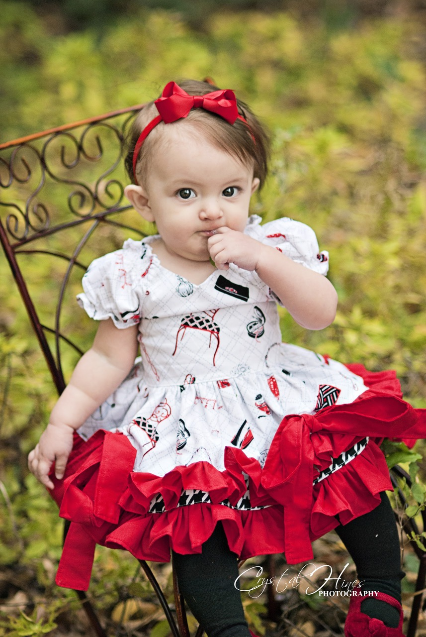 Tori's Bustled Princess Dress Sizes 6/12m to 8 Kids PDF Pattern