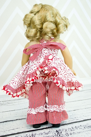 Sophia's Open Back Dress & Olivia's Ruffle Butt Pants Doll Size PDF Pattern