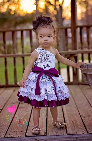Francesca's Frilly Ruffle Dress Sizes NB to 8 Kids and Dolls PDF Pattern