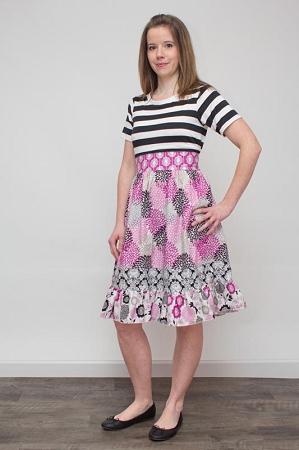 Cosette's Knit and Woven Dress Sizes XS to XL Adults PDF Pattern