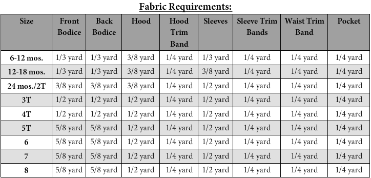 Toby's Hooded T-Shirt PDF Pattern