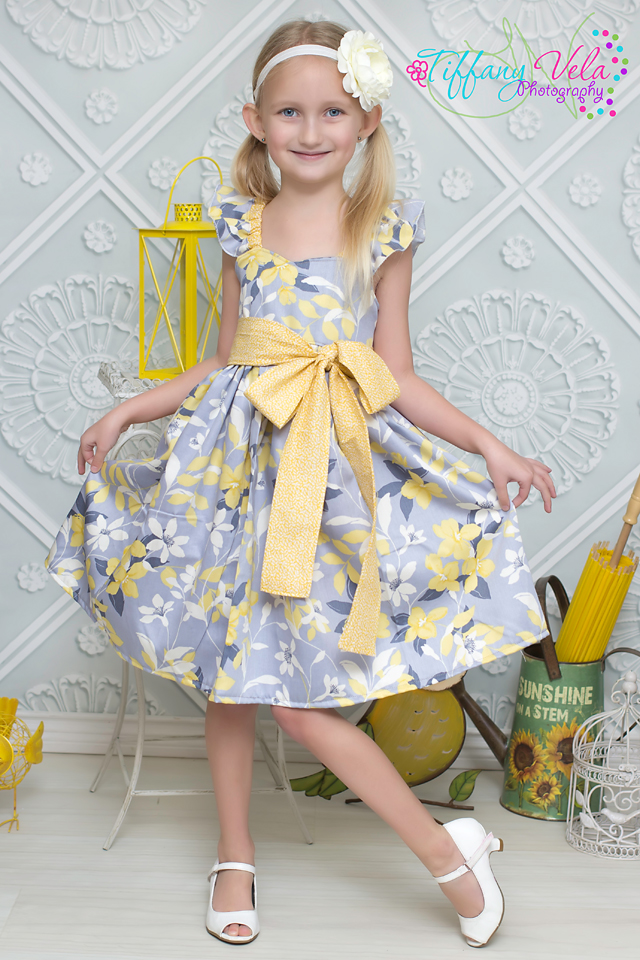 Bethany's Fancy Party Dress Sizes NB to 15/16 Kids and Doll PDF Pattern