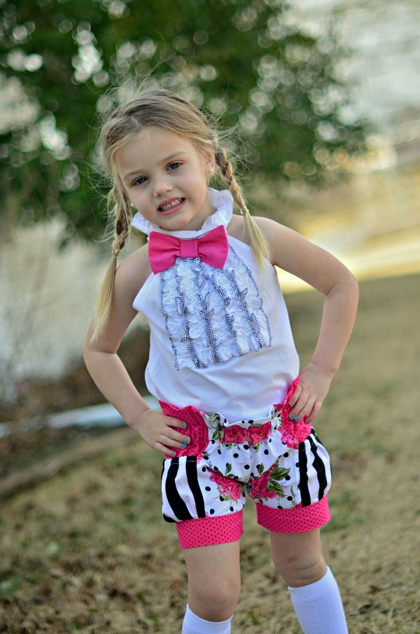 Brenna's Bubble Pocket Shorts Sizes 6/12m to 15/16 Kids PDF Pattern
