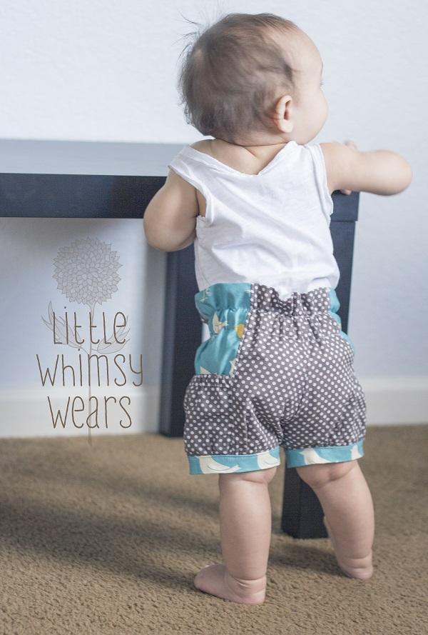 Brenna's Bubble Pocket Shorts Sizes 6/12m to 15/16 Kids PDF Pattern