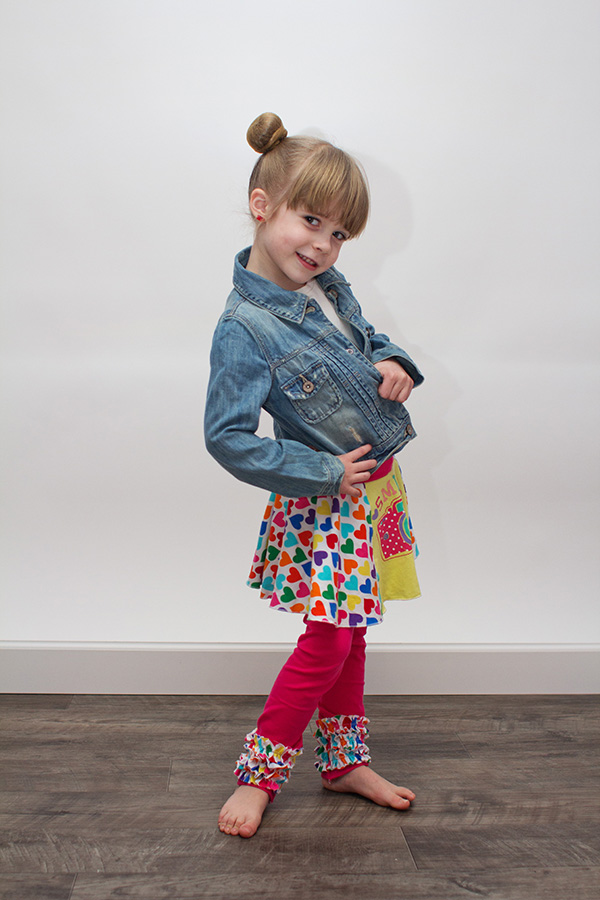 Quinn's Knit Skirted Leggings Sizes NB to 15/16 Kids PDF Pattern