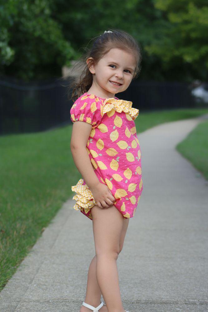 Sadie's Sweet Peasant Dress & Diaper Cover Set Sizes NB to 18/24m Babies PDF Pattern