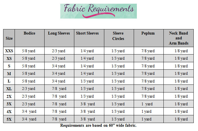 Heidi's Hi-Low Peplum Shirt Sizes XS to 5X Adults PDF Pattern