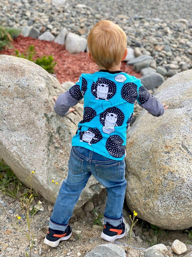 Liam's Layered T-Shirt Sizes 2T to 14 Kids PDF Pattern