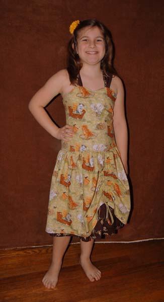 Poppy's Tween Peekaboo Dress PDF Pattern
