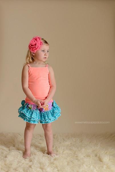 Raelyn's Triple Ruffle Bow Shorts Sizes 6/12m to 8 Kids PDF Pattern
