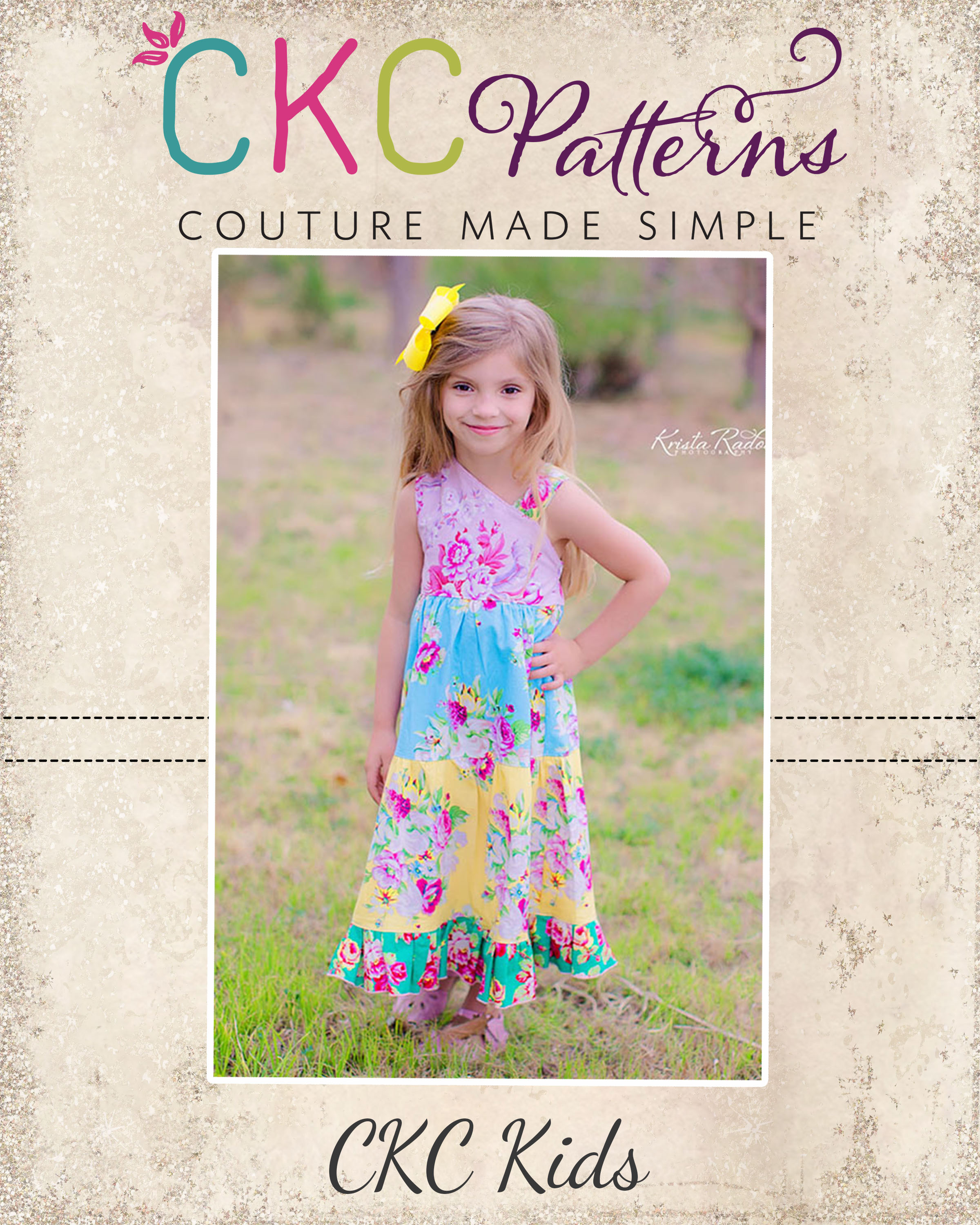Ginger's One Shoulder Dress and Top Sizes 6/12m to 15/16 Kids PDF Pattern