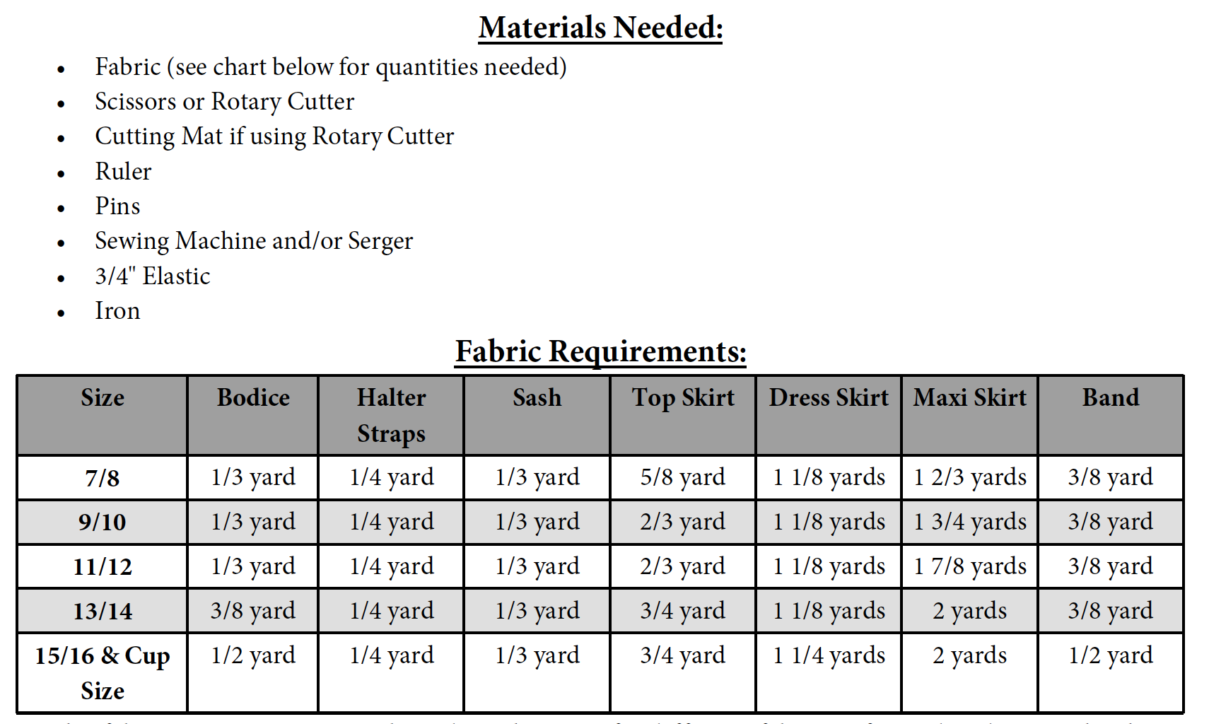 Hadley's Halter Top, Dress, and Maxi Sizes NB to 15/16 Kids and Dolls PDF Pattern