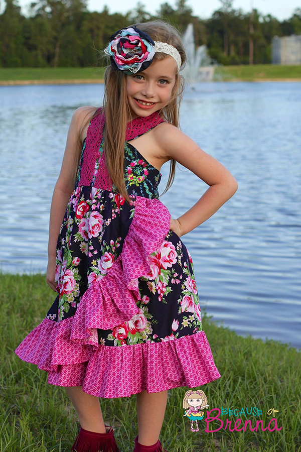 Monroe's Wrap Dress Sizes 6/12m to 8 Kids PDF Pattern