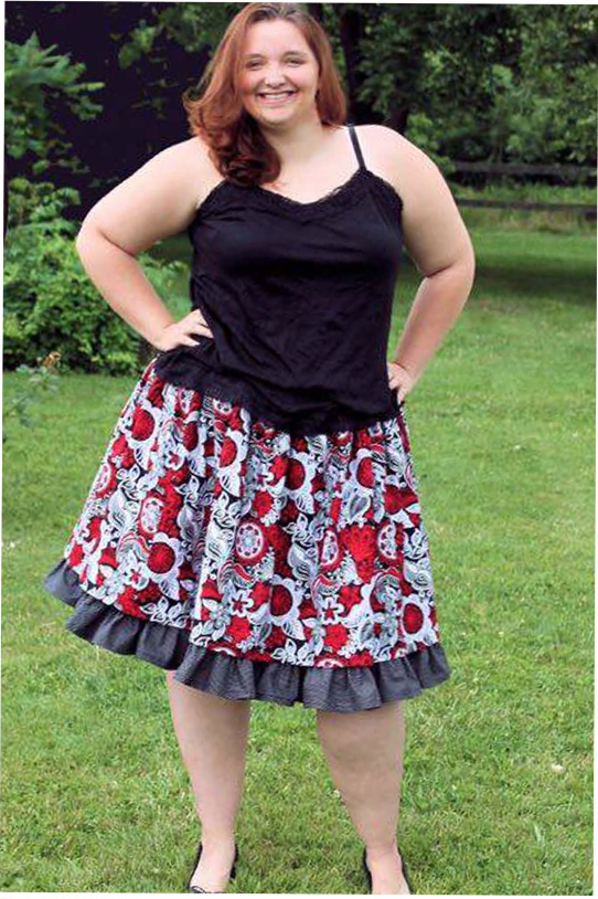 Antoinette's Double Layer Twirly Skirt Sizes XS to 5X Adults PDF Pattern