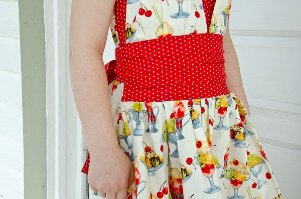 Lexie's Retro Halter Dress Sizes 6/12m to 15/16 Kids and Doll PDF Pattern