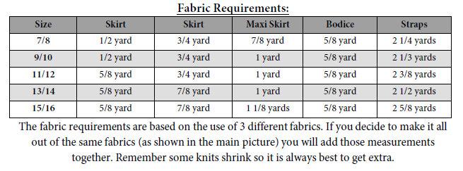 Harlow's Infinity Dress Sizes 6/12m to 15/16 Kids PDF Pattern