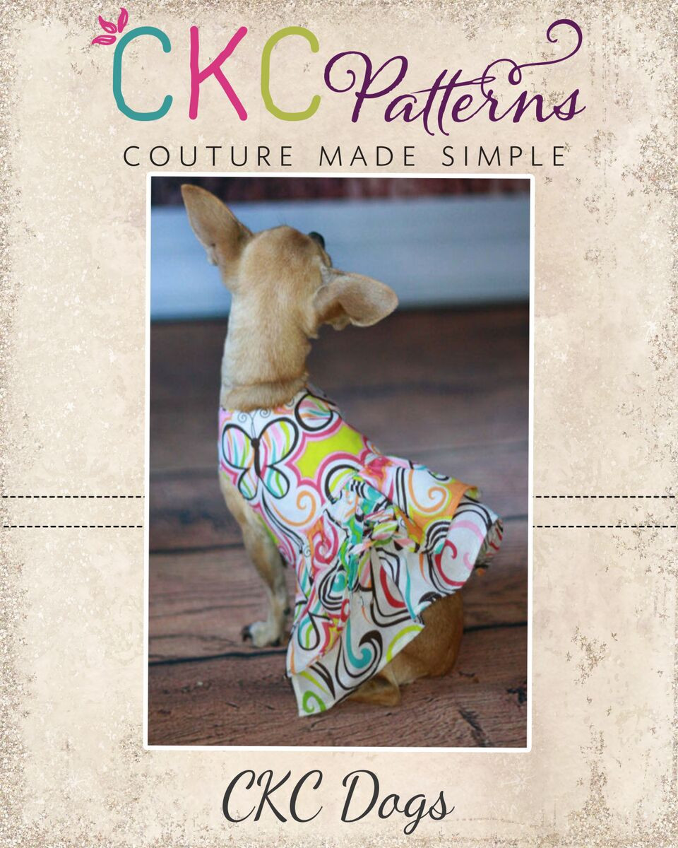 Poppy's Peekaboo Dress for Small and Large Breed Dogs PDF Pattern