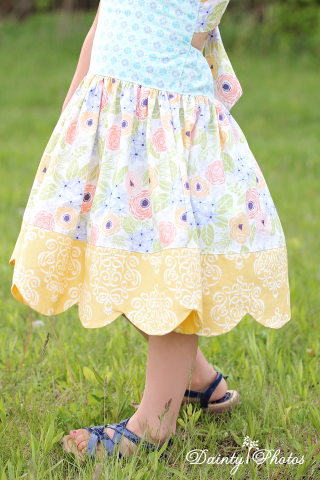 LaRae's Scalloped Dress & Top Sizes NB to 8 Kids and Dolls PDF Pattern