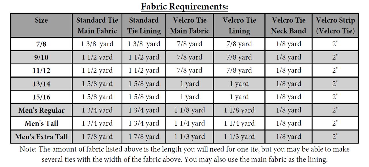 Emmett's Tie Set for Men & Tweens PDF Pattern