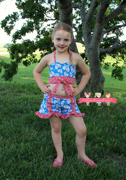 Kristine's Ruffled Shorts Sizes NB to 15/16 Kids and Dolls PDF Pattern
