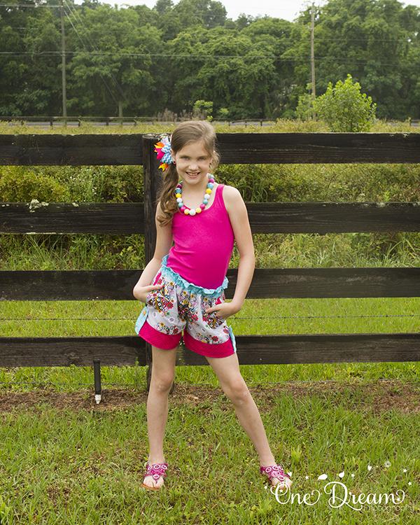 Blossom's Tab Shorts Sizes NB to 15/16 Kids PDF Pattern