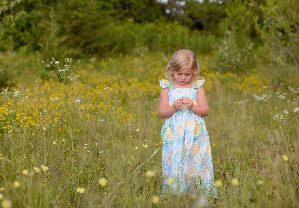 Dahlia's Double Flutter Pocket Top, Dress & Maxi Sizes NB to 15/16 Kids and Dolls PDF Pattern
