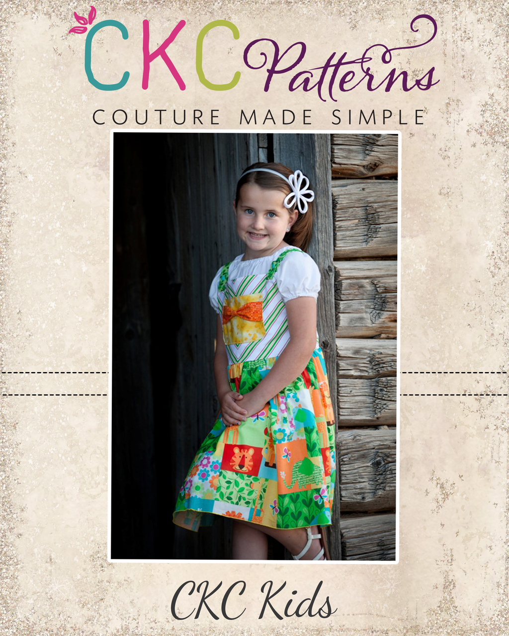 Jaclyn's Jumper Dress Sizes 6/12m to 15/16 Kids PDF Pattern