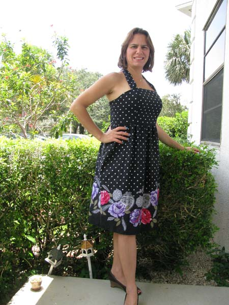 Amber's Simple Halter Top and Dress Sizes XS to 5X Adults PDF Pattern