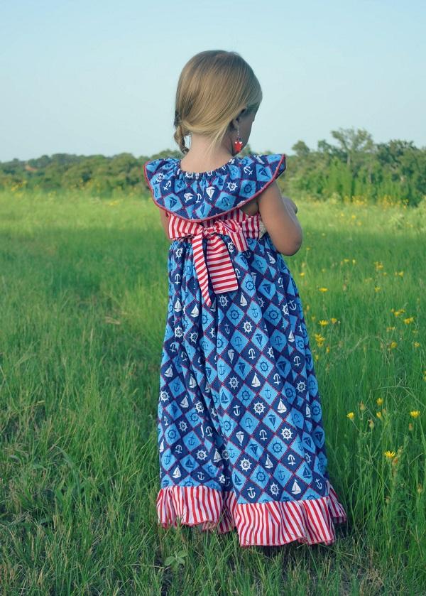 Adelaide's Ruffle Neck Top, Dress & Maxi Sizes 6/12m to 8 Kids PDF Pattern