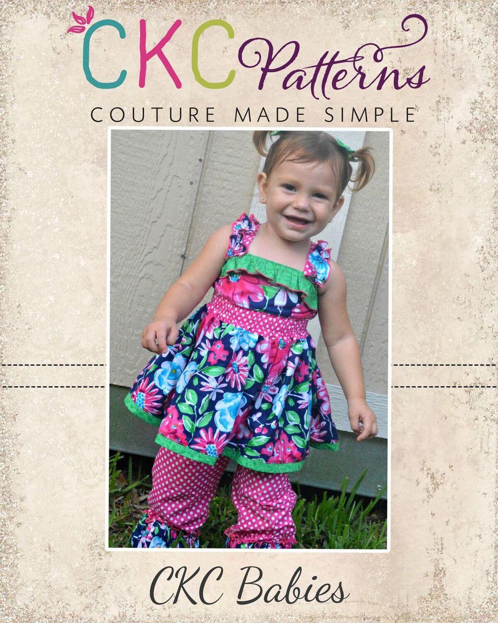 Sabrina's Baby Ruffled Top and Dress PDF Pattern