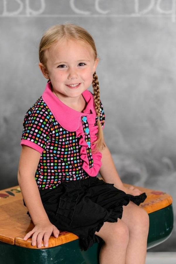 Brandi's Ruffled Polo Shirt Sizes 6/12m to 8 Kids PDF Pattern
